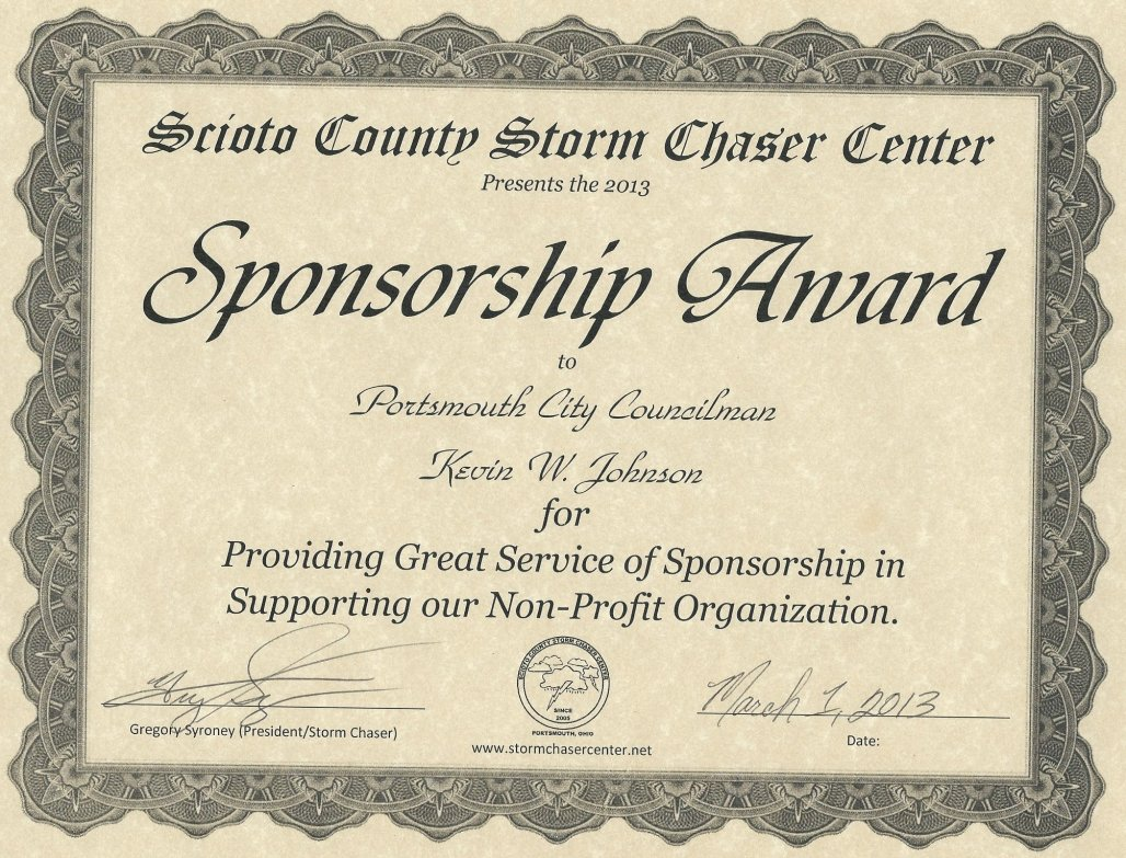 Kevin W. Johnson Sponsorship Award