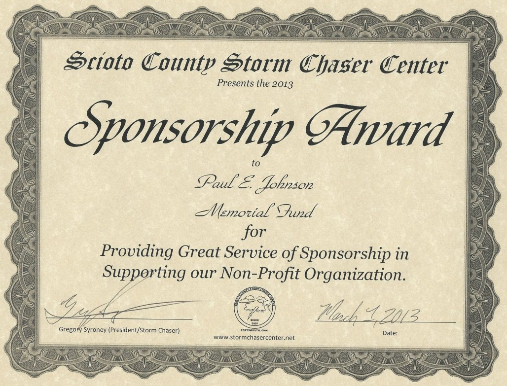 Paul E. Johnson Sponsorship Award